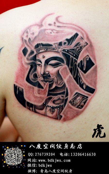 八度空间纹身总店 小虎作品 地藏王菩萨高清图片