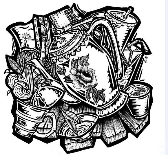 【设计基础】川美黑白装饰画----在线交流学习图片