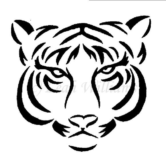 Tiger Line Drawing Easy : 云南纹身吧——虎图腾——素材欣赏 云南纹身吧 百度贴吧