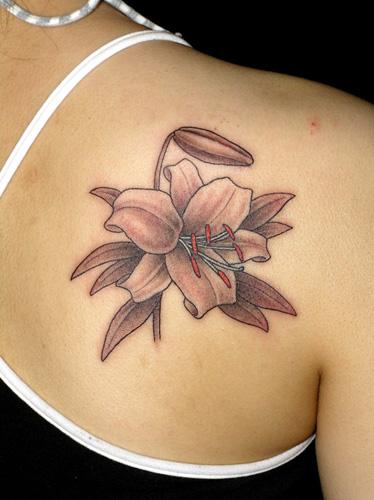百合花纹身图案图片图片
