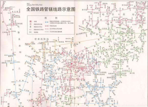 中国铁路线路图高清版高清图片