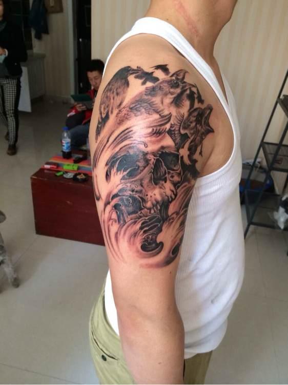 象征单身的纹身分享展示图片