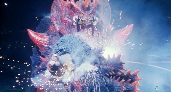 之后红莲哥斯拉采取近身战,以超高体温和蛮力重创了戴斯特洛伊亚图片