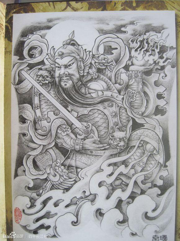 纹身手稿 菩提 一组佛像图片