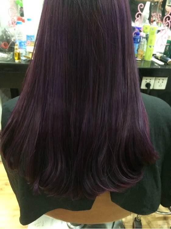 原宿紫色头发头像图片