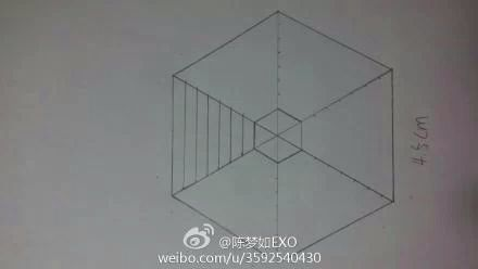 exo logo画法 exo十二人标志画法 exo成员logo画法