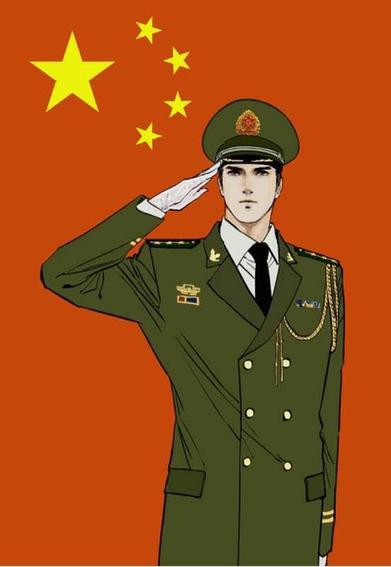 回复:有没有好看的军人动漫图片