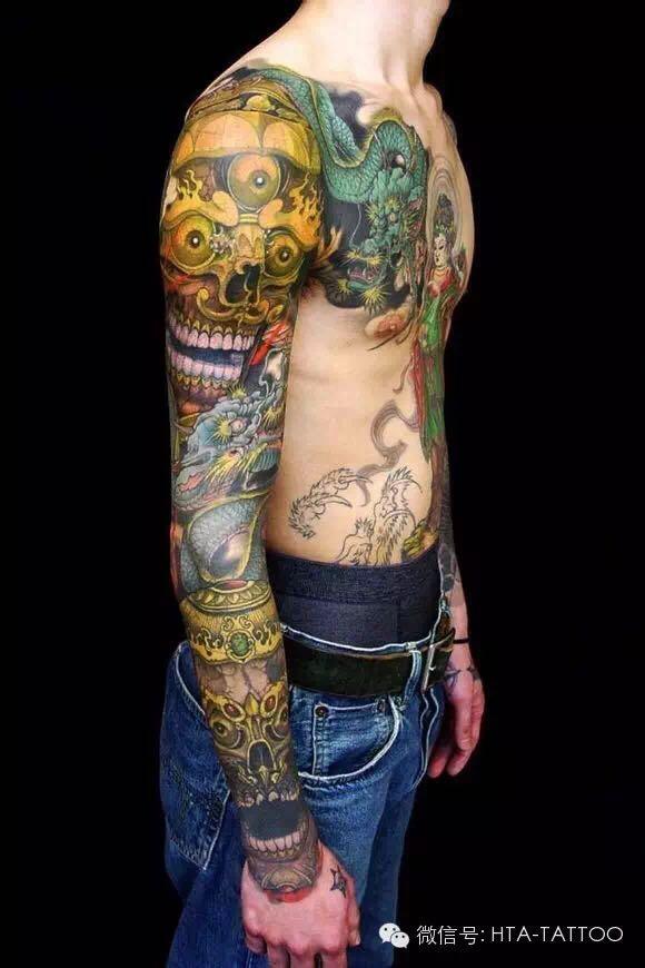 花臂纹身素材图片