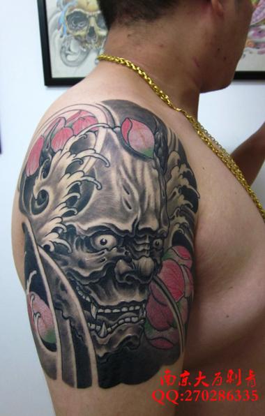 满背纹身画稿一恋成佛一恋成魔_满背纹身画稿一恋成佛图片