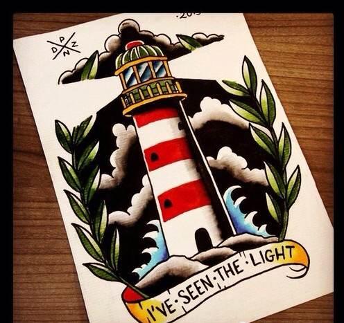 【图片】灯塔手稿【纹身吧】_百度贴吧图片