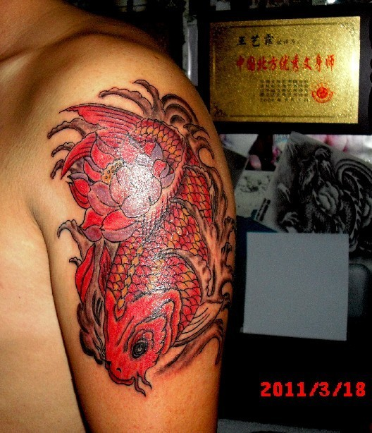 上臂纹身图案男半臂分享展示图片