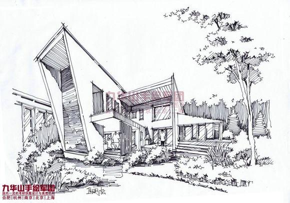 建筑园林钢笔画写生 纯属交流图片