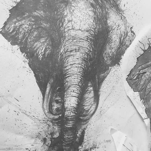 直播:泼墨象包腿 画图男手稿 湖佛李纹肆_纹身吧_百度 (580x580)图片