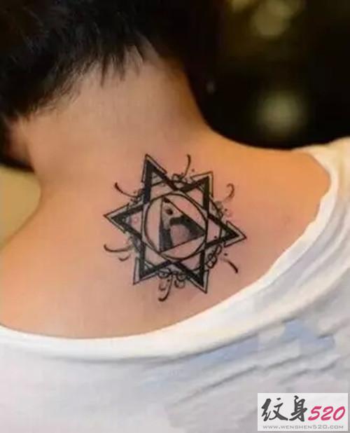 六芒星纹身图案原图分享展示图片