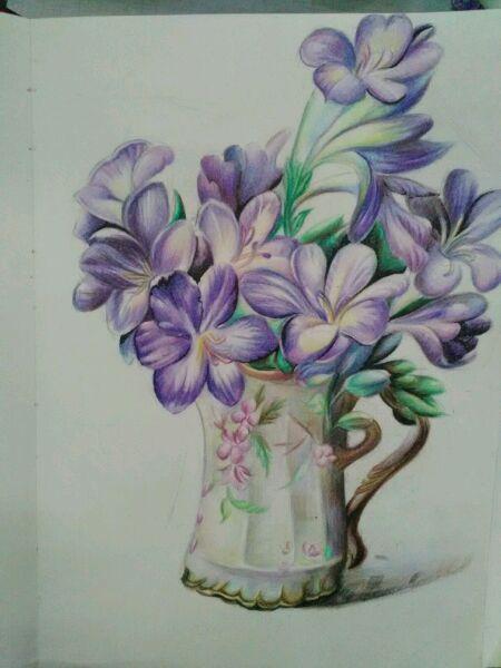 超写实油画花卉彩铅临摹 已完成有过程高清图片