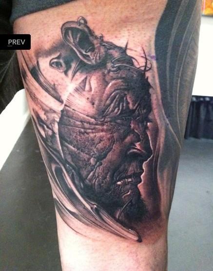 恶鬼以及大江山的_纹身图案 (437x555)图片