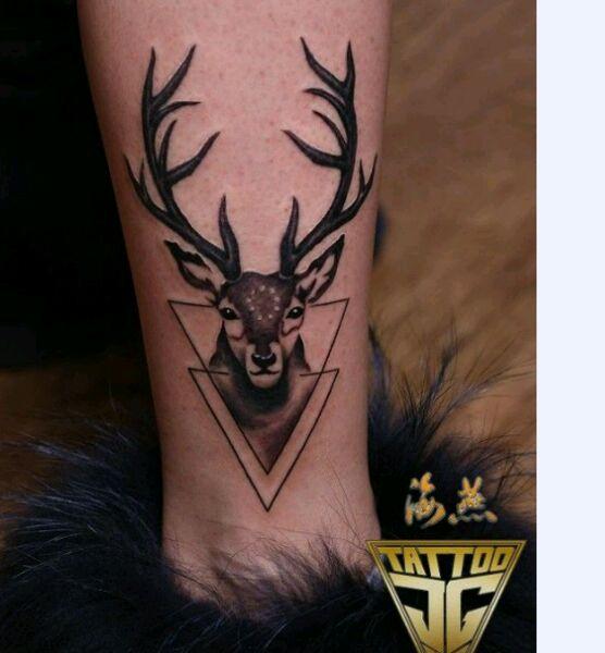 纹身脚脖子图案男_纹身图案图片