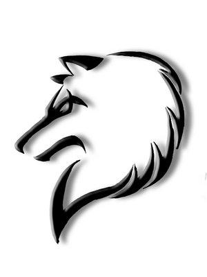 凶相毕露的狼头图腾纹身手稿图图片