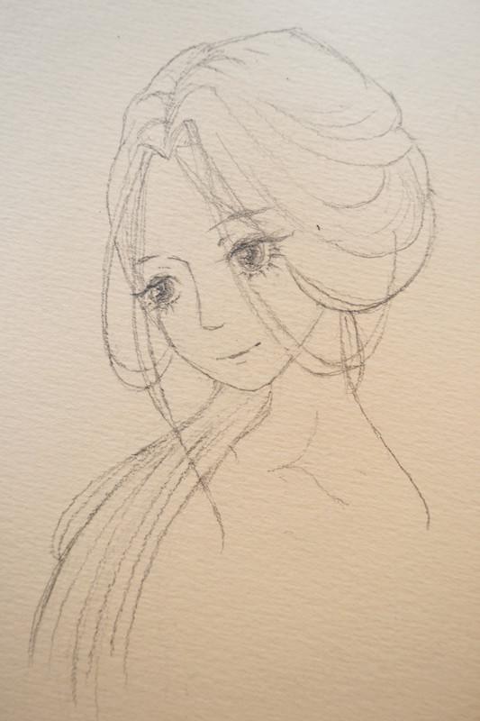 古风女子的脸部以及头发教程图片图片
