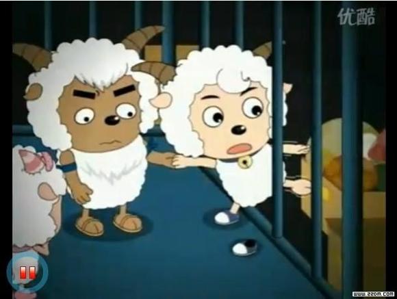 喜羊羊挠脚丫的动画片
