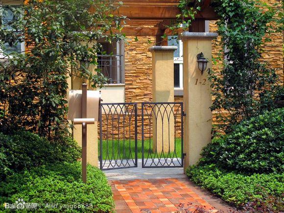 住宅 出入口>意向图_园林景观设计吧_百度贴吧图片