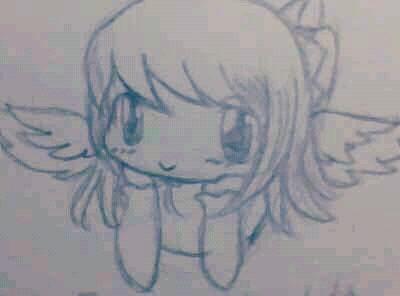 2013夏装白色天使印花格子短_纹身图案图片