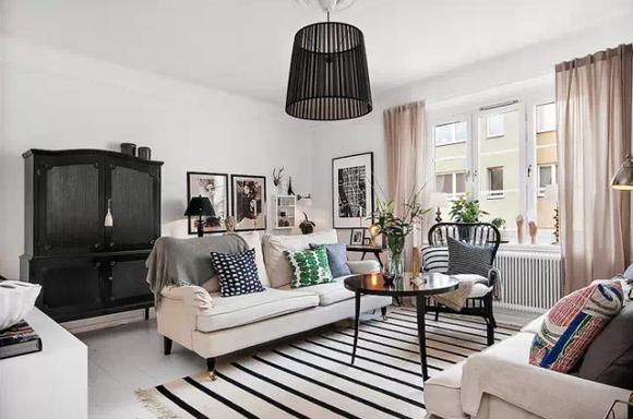 21款北欧风格客厅设计样板参考,每一款都是惊艳!_装饰图片