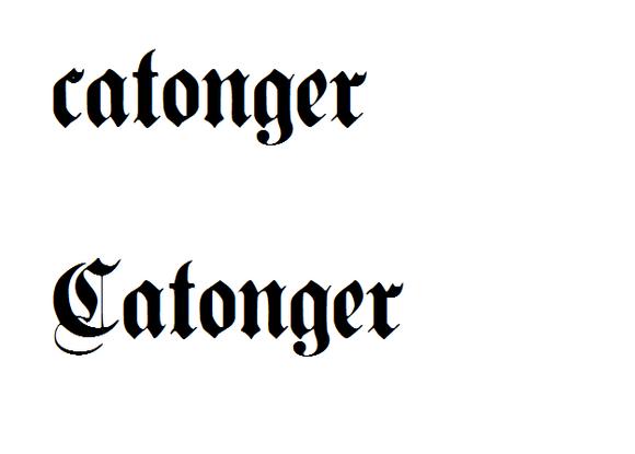 回复:【店铺】转英文哥特字体plain germanica图片