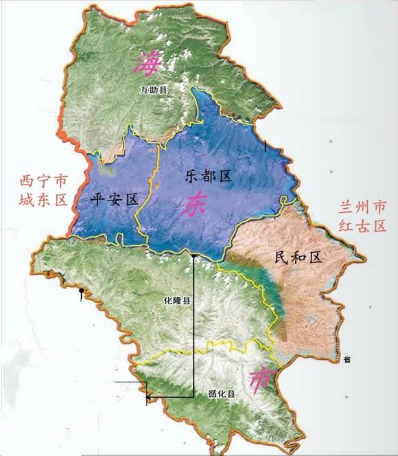 区划地�_海东市城市核心区行政规划调整后的区划图