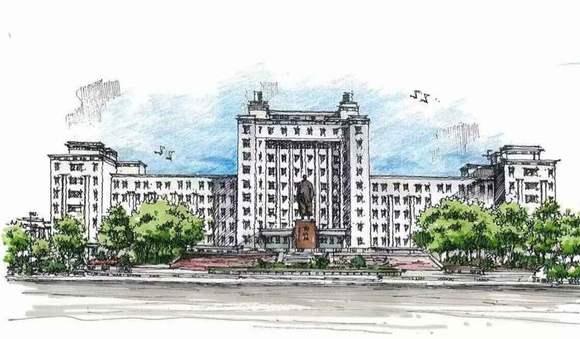 【图片】[哈师大校园风光手绘明信片]【哈尔滨师范吧图片