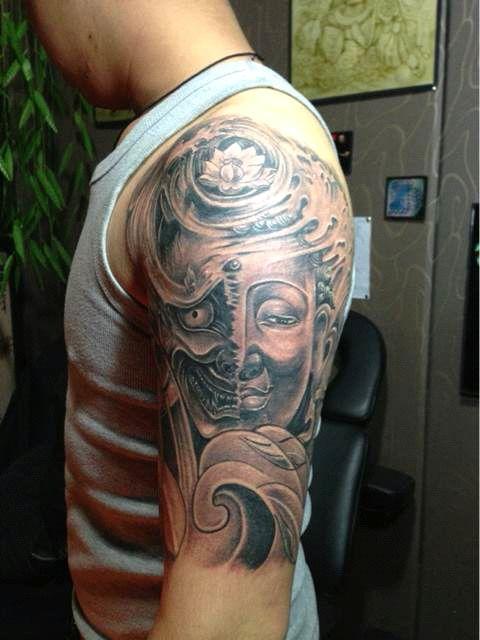 猴脸纹身,邪猴满背纹身,正脸龙纹身手稿图片