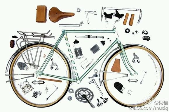 自行车拆解图