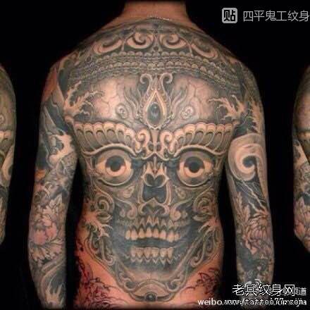 嘎巴拉纹身图案与蕴意