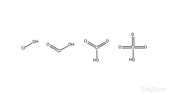 次氯酸,亚氯酸,氯酸,高氯酸的结构式分别是什么?求解图片