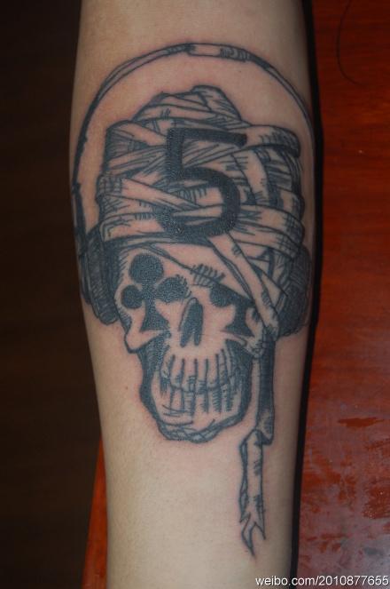 励志纹身图案大臂分享展示