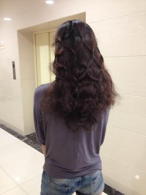 剪下来的头发图片女分享展示图片