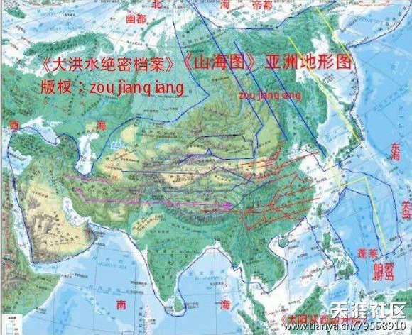 亚洲地形囹�b���_请看一张现代的亚洲地形图.其外部轮廓是不是就是一条公牛的形状?