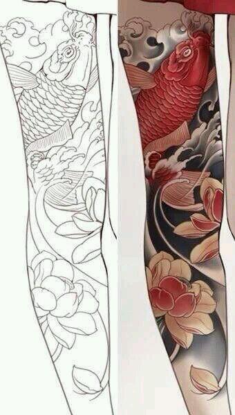 纹身图案 花腿纹身手稿黑白 > 男士黑白无常包整腿花腿纹身  男士黑白图片