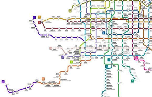 北京地铁建设图 北京地铁2030年规划图 北京地铁建设图片