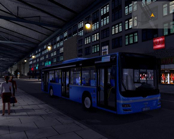 到达终点站ostbahnhof us,开完末班车,收车了,话说夜晚