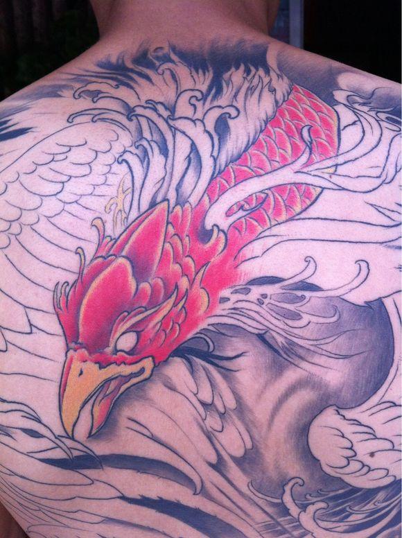 凤凰纹身与朱雀纹身的区别图片