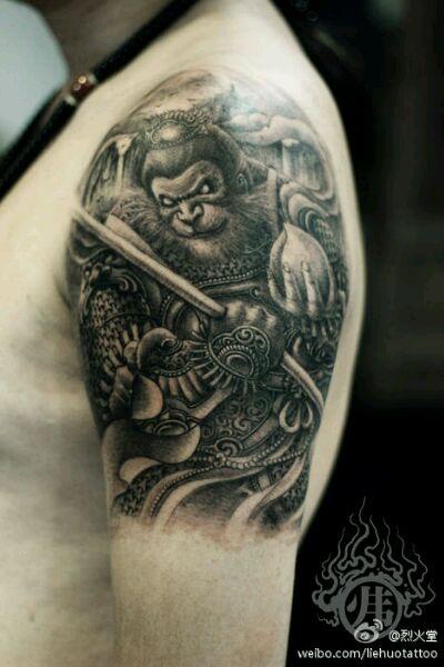 孙悟空背面纹身手稿分享展示图片