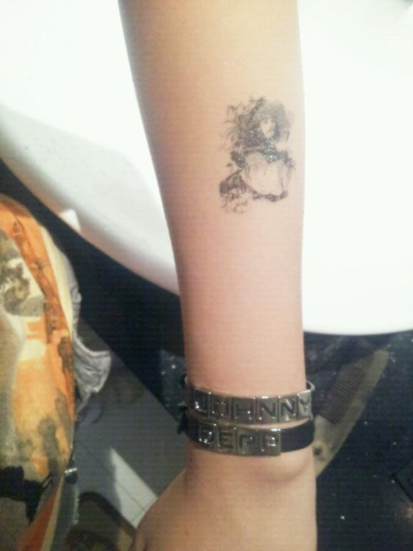 手臂星空手环纹身图案1图片