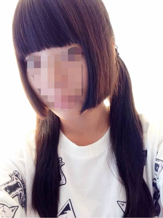 姬发式发型中分分享展示图片