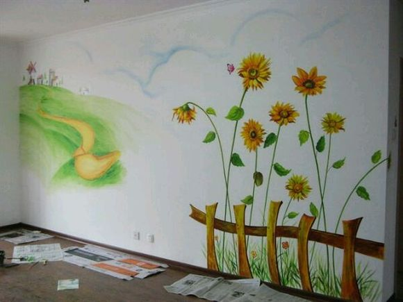 诚接幼儿园 舞蹈班 学校 以及家庭室内墙绘,专业美术图片