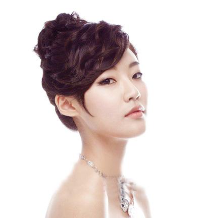 韩式丸子新娘发型分享展示图片