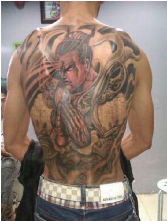 辽宁朝阳二郎神纹身图案图片