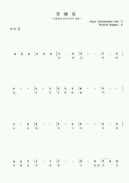 求十音拇指琴乐谱图片