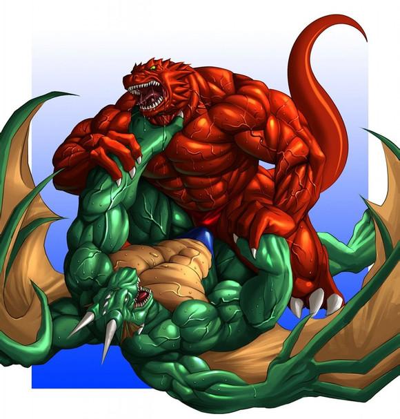... 兽人肌肉_动漫肌肉兽人基情图_肌肉兽人父子基情图