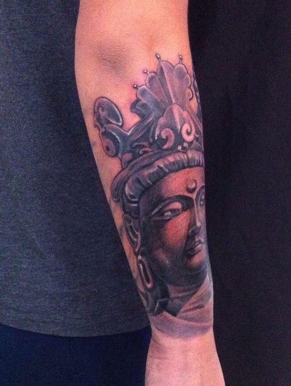 小臂包臂佛纹身手稿分享展示图片